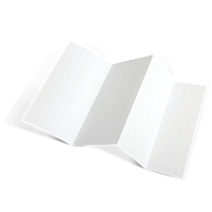 "Blank Laser/Inkjet 1H x 8""L Inserts for Magnetic Label Holders (600-Pack)"