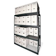 "84""H Steel 40-Carton Record Storage Rack"