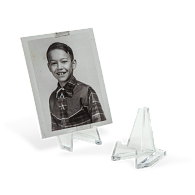 Acrylic Miniature Triangular Display Easels (12-Pack)