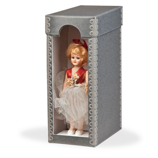 "Gaylord Archival® 9"" International Doll Box with Arched Window"