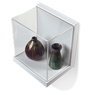 Gaylord Archival® Little Gem Original White Wall-Mount Exhibit Case
