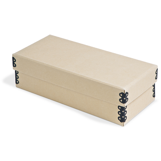 Gaylord Archival® Tan Barrier Board Card File Box