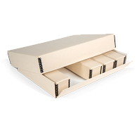 Gaylord Archival® Drop-Front Outer Box for Modular Slide File Storage System