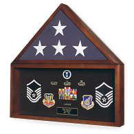 Memorial Flag & Memorabilia Display Case