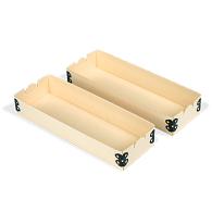 "Gaylord Archival® Light Tan E-flute 3 x 9"" Internal Trays for Modular Box System (2-Pack)"