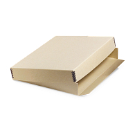 Gaylord Archival® Tan Barrier Board Drop-Front Deep Lid Print Box