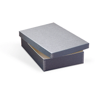 Gaylord Archival® Blue/Grey Barrier Board Shallow Lid Box