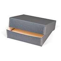 Gaylord Archival® Blue/Grey Barrier Board Deep Lid Print Box