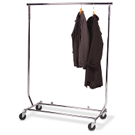 Heavy-Duty Folding Mobile Textile Rack