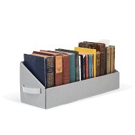 Gaylord Archival® Blue B-flute Book Tray with Handles