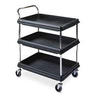 Deep Ledge 2-Shelf Utility Cart