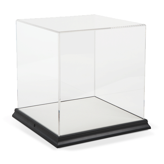 Gaylord Archival® Gem Metallic Venice Frame Acrylic Tabletop Case with Linen-Wrapped Interior