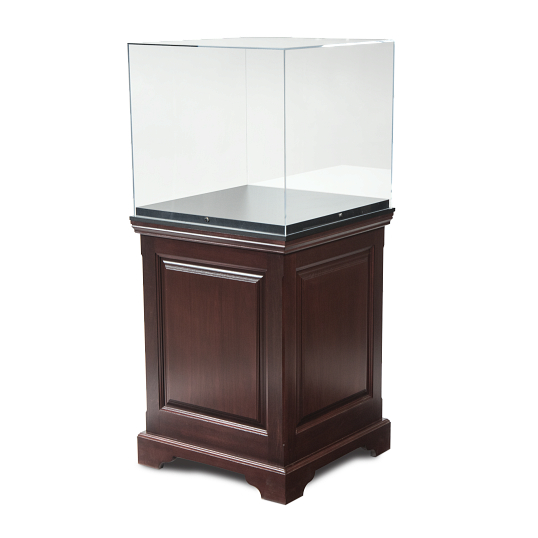 Gaylord Archival® Hudson™ Chester Raised Panel Pedestal Exhibit Case