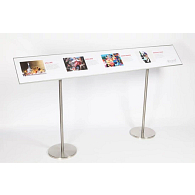 Reader Rail for Freestanding Gallery Information Stands