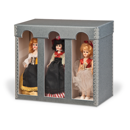 "Gaylord Archival® 9"" International Doll Box with Arched Windows"