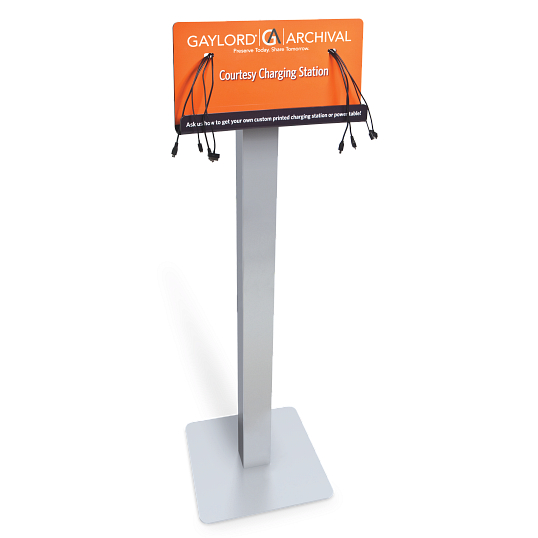 Floor-Standing Mobile Device Charging Station