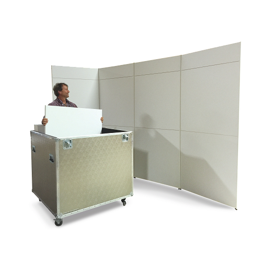 Scenario® Series 500 Stacking 3-Wall Display System