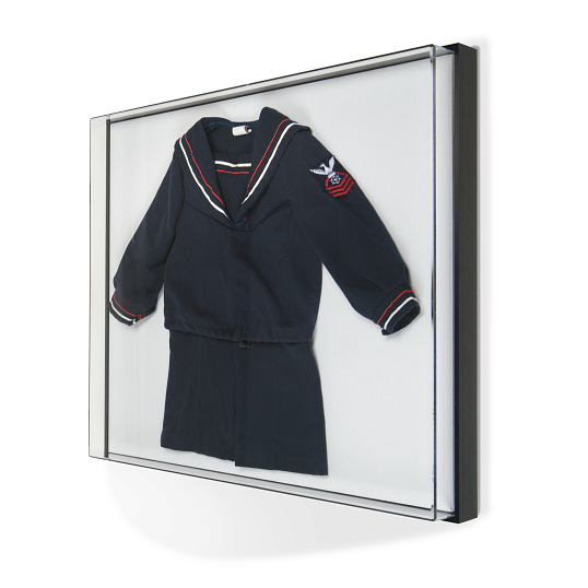 Gaylord Archival® Avant UV-Filtering Museum Vitrine Wall-Mount Case with Silica Gel Compartment