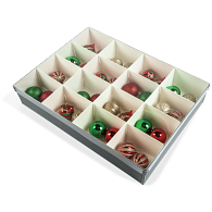 Gaylord Archival® Clear Lid 16-Compartment Ornament Box