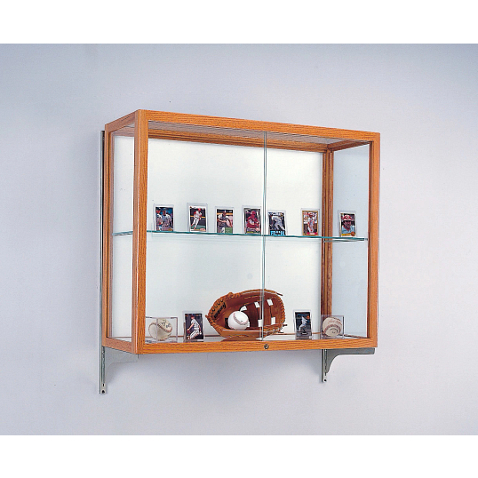 Waddell Heritage Wall-Mount Exhibit Case with White Laminate Back