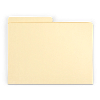 Gaylord Archival® Classic Half-Cut Tab Letter Size File Folders (100-Pack)