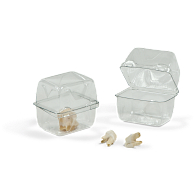 Gaylord Archival® Clear PET Clamshell Dome Lid Boxes (200-Pack)