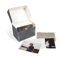 Gaylord Archival® Blue/Grey Barrier Board Flip-Top Photo Storage Kit
