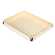 "Gaylord Archival® Light Tan E-flute 9 x 12 3/8"" Internal Tray for Modular Box System"