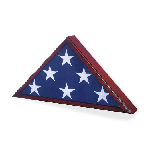 Memorial Flag Hardwood Display Case