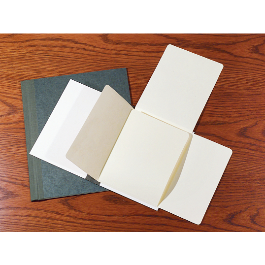 "Gaylord Archival® 1/2"" Stiff Flatback Spine Document Preservation Binders with DuraCoat™ Acrylic Coating (5-Pack)"