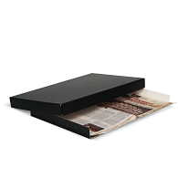 Gaylord Archival® Black Barrier Board Drop-Front Newspaper/Print Box