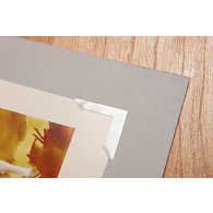 "Gaylord Archival® Maxiview 1 1/4"" Clear Self-Adhesive Polypropylene Photo Corners (250-Pack)"