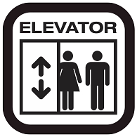 Self-Adhesive Removable Vinyl Elevator Graphic
