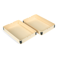 "Gaylord Archival® Light Tan E-flute 6 x 9"" Internal Trays for Modular Box System (2-Pack)"