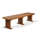 "72""W bench shown in Light Cherry."