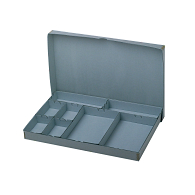 Gaylord Archival® Blue E-flute Board Lid Modular Box System