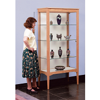 Gaylord Archival® Eastwood™ Panel Back Leg Base Exhibit Case