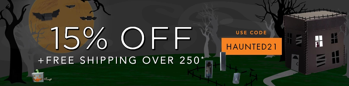 Use code HAUNTED21 to get 15% off + FREE shipping on supply orders over $250!*