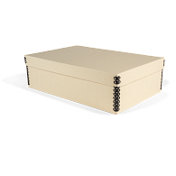 Gaylord Archival® Light Tan E-flute Shallow Lid Multipurpose Box