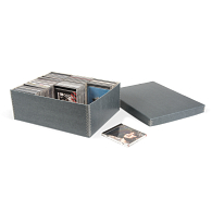 Gaylord Archival® Blue/Grey Shallow Lid CD Box