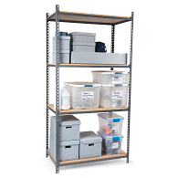 "Tennsco Z-Line Boltless 36""W Shelving Starter Unit with Steel Shelves"