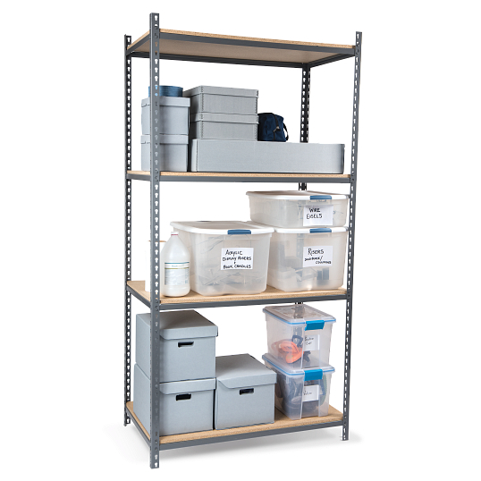 "Tennsco Z-Line Boltless 36""W Shelving Starter Unit with Particle Board Shelves"