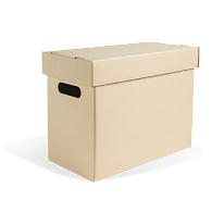 Gaylord Archival® Light Tan Half-Size Legal Record Storage Carton