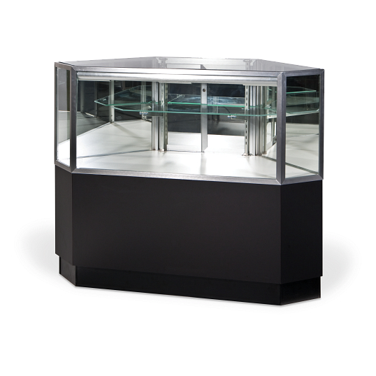 Gaylord Archival® Showcase™ Clipped Corner Retail Display Case
