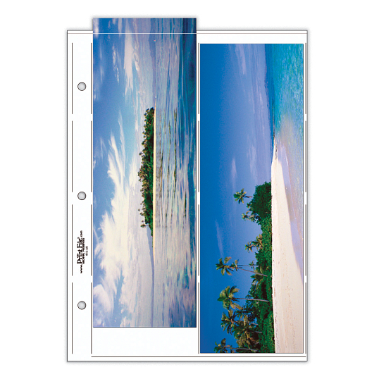 "Print File® 8 mil Polypropylene Oversize Album Pages for 4 x 12"" Prints (25-Pack)"