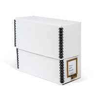 Gaylord Archival® White Barrier Board Flip-Top Document Case with Label Holder