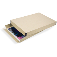 Gaylord Archival® Tan Barrier Board Drop-Front Digital Print Box