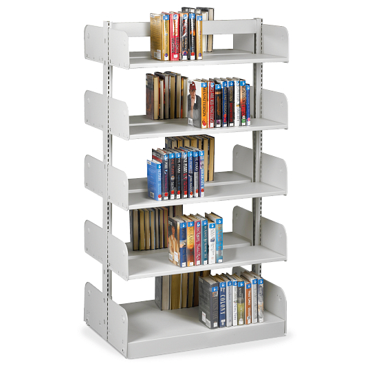 "Estey 66""H Double-Faced Cantilever Steel Shelving"