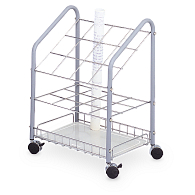 Safco® 12-Compartment Wire Mobile Roll Storage