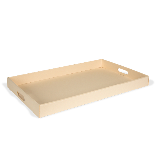 Gaylord Archival® Light Tan B-flute Textile Box Tray
